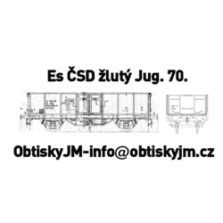 H0-Es ČSD 70.léta žluté...