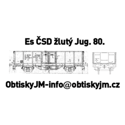 H0-Es ČSD 80.léta žluté...