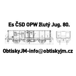 H0-Es ČSD OPW 80.léta žluté...