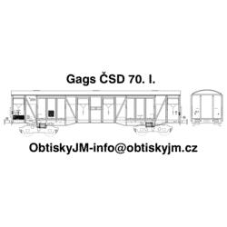 Gags ČSD 70.léta I. série, D