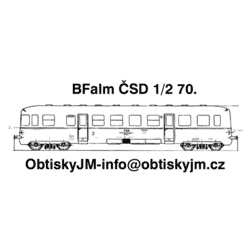 BFalm ČSD 2.pol. 70.let...