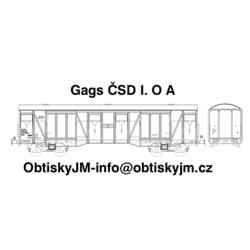 H0-Gags ČSD 80.léta I. serie A