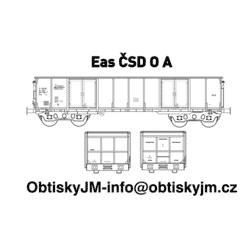"H0-Eas ČSD A, podvozek ""s..."