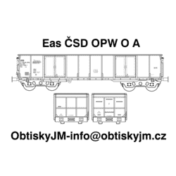H0-Eas ČSD OPW A, podvozek...