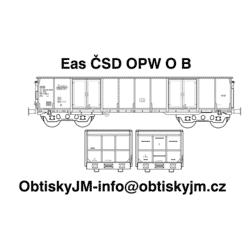 H0-Eas ČSD OPW B, podvozek...