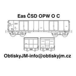 H0-Eas ČSD OPW C, podvozek...