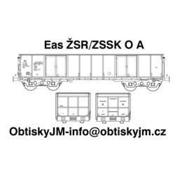 H0-Eas ŽSR/ZSSK A, podvozek...