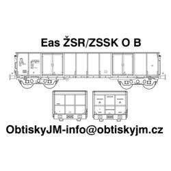 H0-Eas ŽSR/ZSSK B, podvozek...