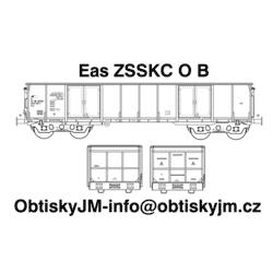 """H0-Eas ZSSKC B, podvozek """"s..."""