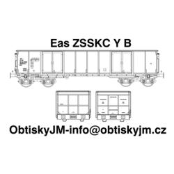 H0-Eas ZSSKC B, podvozek Y