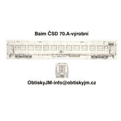 H0-Baim ČSD 70.léta výrobní...