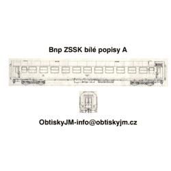 H0-Bnp 053 ZSSK Bílé popisy A