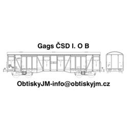 H0-Gags ČSD 80.léta I. serie B