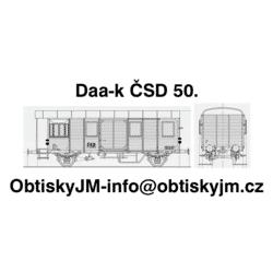 H0-Ds-ČSD 50.léta A , bílé...