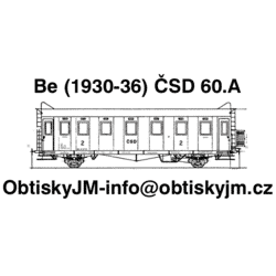 Be ČSD 60.léta Dom.st.Plzeň...